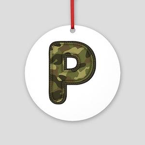 P Army Round Ornament