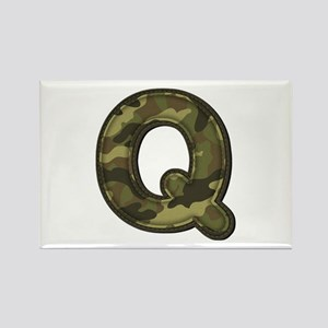 Q Army Rectangle Magnet