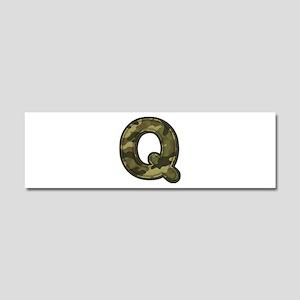 Q Army 10x3 Car Magnet