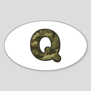 Q Army Oval Sticker
