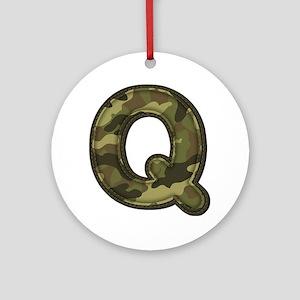 Q Army Round Ornament