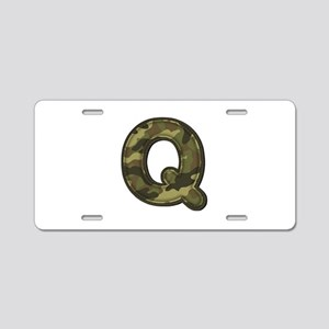 Q Army Aluminum License Plate