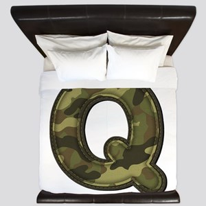 Q Army King Duvet