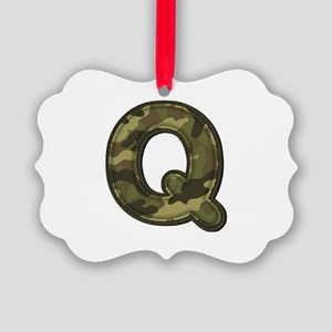 Q Army Picture Ornament