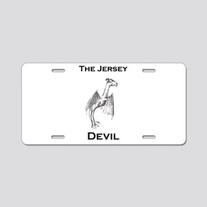 The Jersey Devil Aluminum License Plate