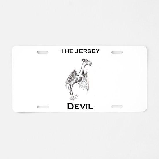 The Jersey Devil Aluminum License Plate
