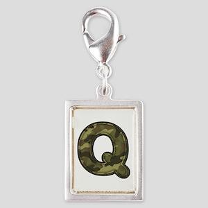 Q Army Silver Portrait Charm