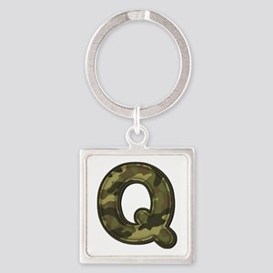 Q Army Square Keychain