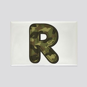 R Army Rectangle Magnet