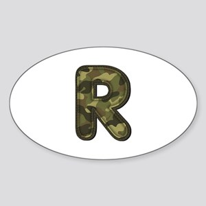 R Army Oval Sticker