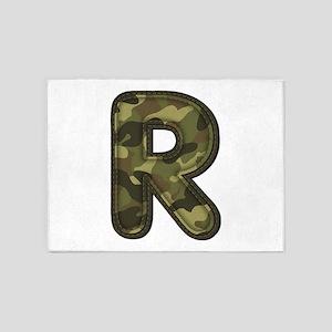 R Army 5'x7' Area Rug