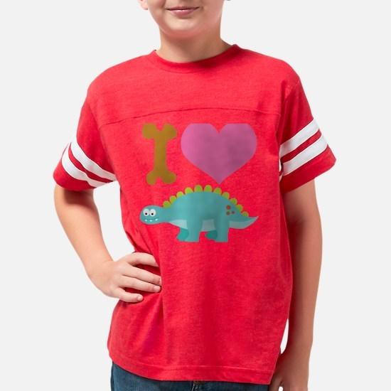 I heart stegosaurus Youth Football Shirt