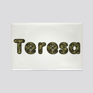 Teresa Army Rectangle Magnet