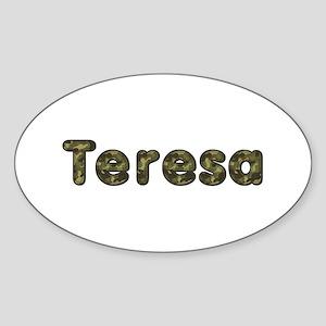 Teresa Army Oval Sticker