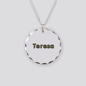 Teresa Army Necklace Circle Charm