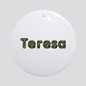 Teresa Army Round Ornament