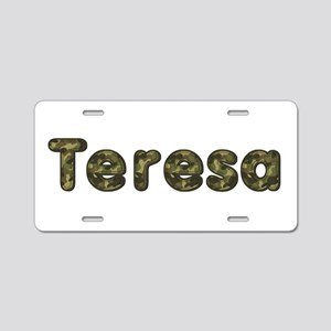 Teresa Army Aluminum License Plate