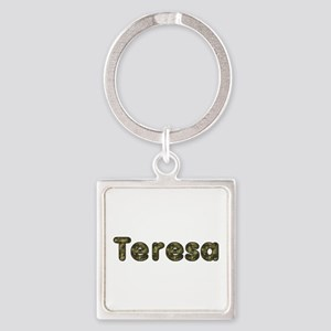 Teresa Army Square Keychain