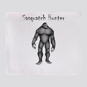 Sasquatch Hunter Throw Blanket