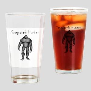 Sasquatch Hunter Drinking Glass