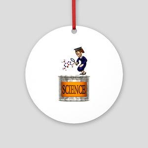 Science Grad Ornament (Round)