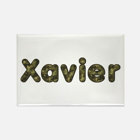 Xavier Army Rectangle Magnet