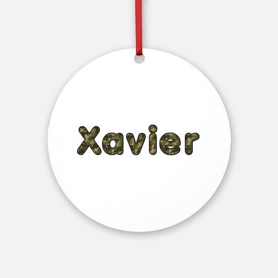 Xavier Army Round Ornament