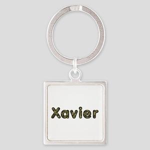 Xavier Army Square Keychain