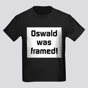 Oswald Was Framed Kids Dark T-Shirt