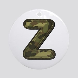 Z Army Round Ornament