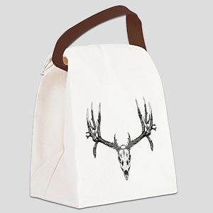 Drop tine buck skull Canvas Lunch Bag