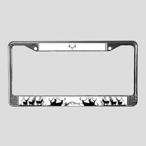 Drop tine buck skull License Plate Frame