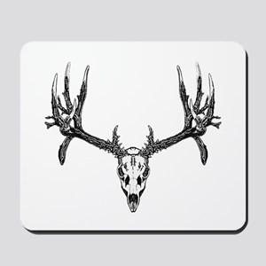 Drop tine buck skull Mousepad