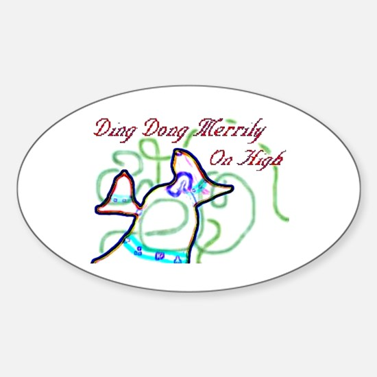 Merrily On High Oval Decal