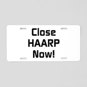 Close HAARP Now Aluminum License Plate
