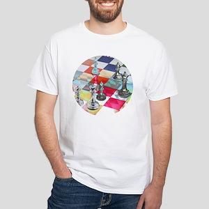 White T-Shirt - Long Diagonal