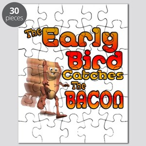 Funny Early Bird Catches The Bacon Puzzle
