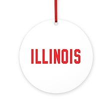 Illinois Ornament (Round)