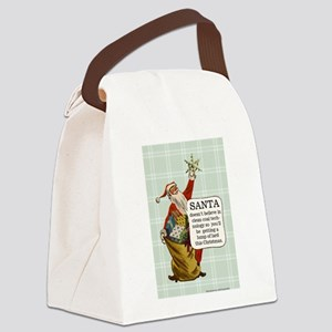 Santa Claus Canvas Lunch Bag