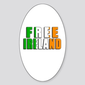 Free Ireland Oval Sticker