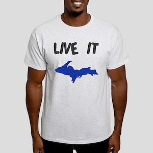 UP Upper Peninsula Michigan Light T-Shirt
