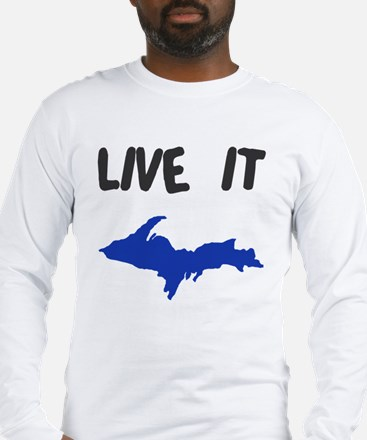 UP Upper Peninsula Michigan Long Sleeve T-Shirt