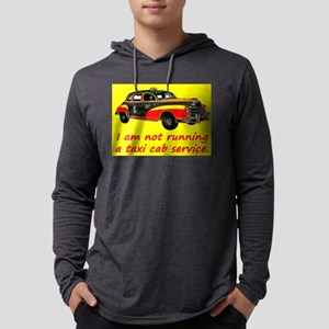 Taxi Cab Service Mens Hooded Shirt