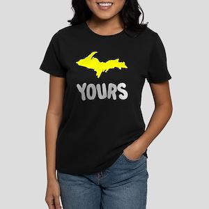 UP Upper Peninsula Michigan Women's Dark T-Shirt
