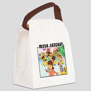 Female Math Teacher Canvas Lunch Bag