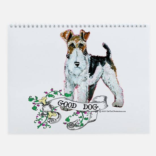 Fox Terrier Calendar Wall Calendar