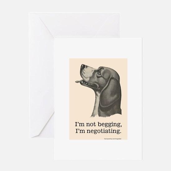Begging Beagle Greeting Cards