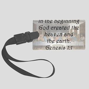 Genesis 1:1 Luggage Tag