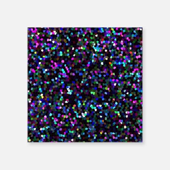 Square Sticker 3&Quot; X 3&Quot; Mosaic Glitter 1