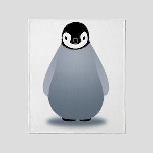 baby-emperor-penguin Throw Blanket